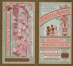 Advert for Huntley & Palmer, biscuit manufacturer